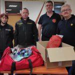 Donacija rukavica i čarapa vatrogascima